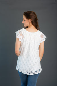 Crochet Sleeve Lace Top