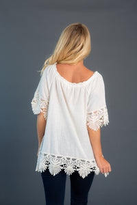 Crochet Trimmed Tunic