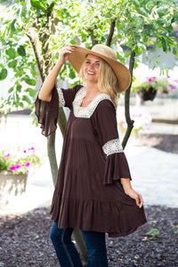 Square Neck Crochet Tunic