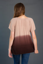 Load image into Gallery viewer, Ombre Ruffle Flutter Tunic