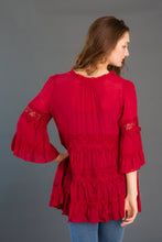 Load image into Gallery viewer, Crochet Tiered Tunic
