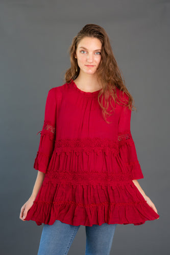 Crochet Tiered Tunic