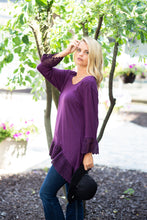 Load image into Gallery viewer, Crochet Trim Sleeve Bottom Tunic
