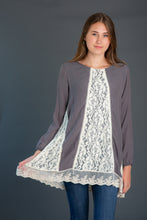 Load image into Gallery viewer, Lace Godet Woven Tunic