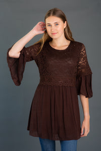 Lace Bodice Woven Tunic
