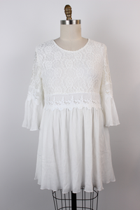 Lace Top Gauze Dress