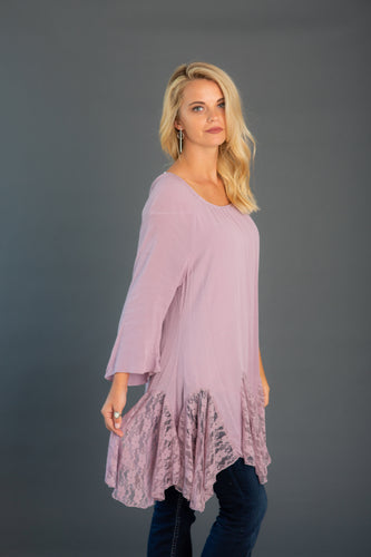 Lace Insert Gored Tunic