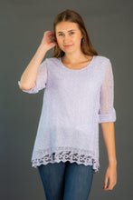 Load image into Gallery viewer, Popcorn Stitch Lace Tunic