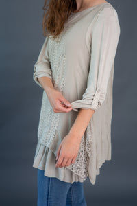 Mixed Media Woven Tunic