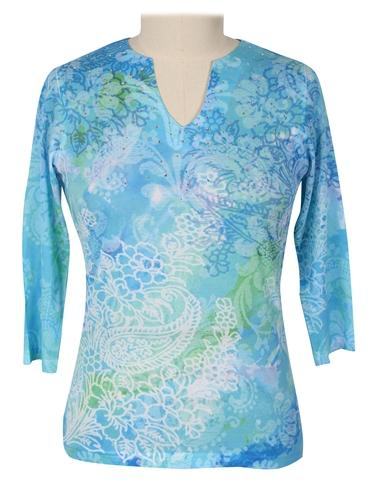 Blooming Paisleys Top