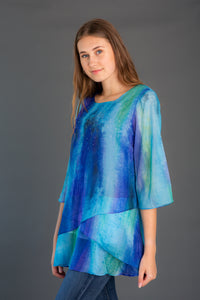 Multi Color Chiffon Tunic