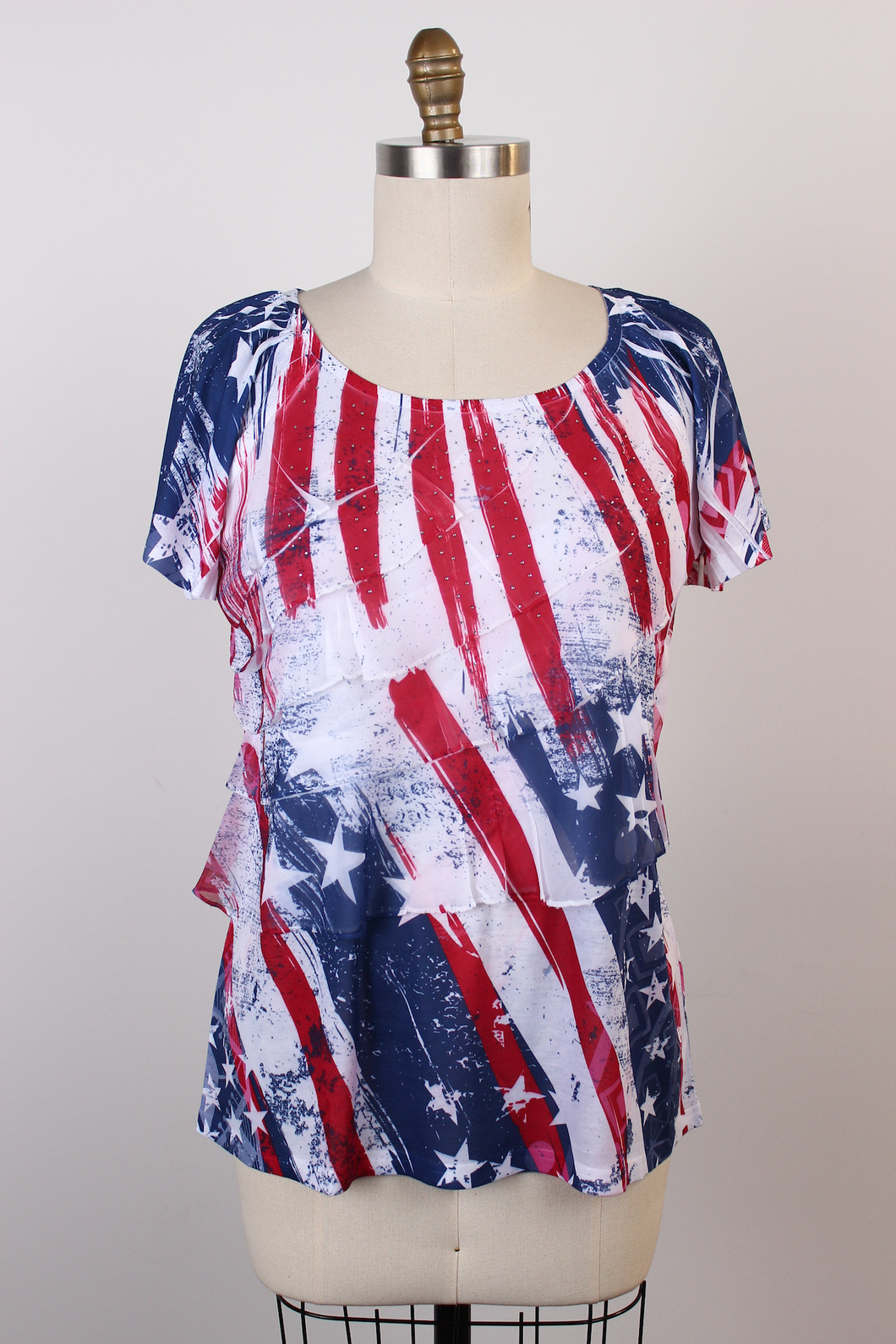 Stars & Stripes Ruffle Tunic