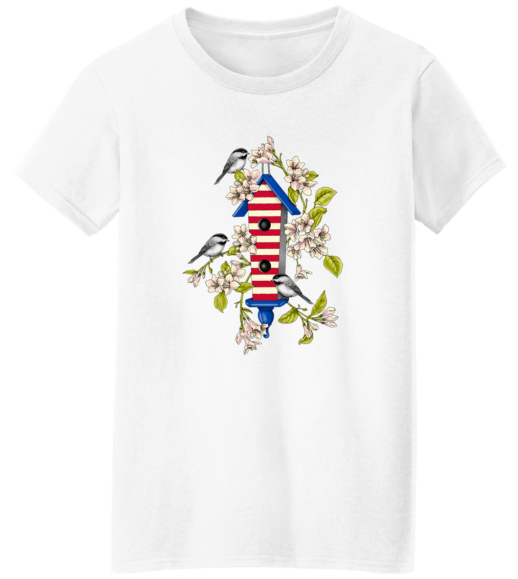 USA Birdhouse Short Sleeve T-Shirt