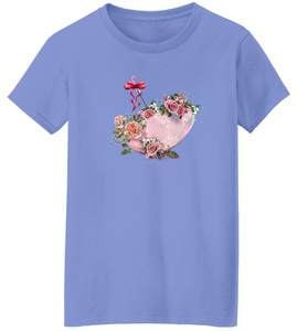 Floral Parasol Short Sleeve T-Shirt