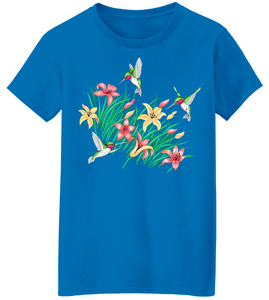 Hummingbirds Lily Short Sleeve T-Shirt