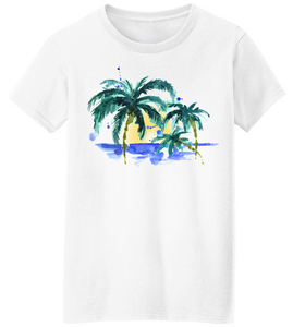 Watercolor Palms Short Sleeve T-Shirt