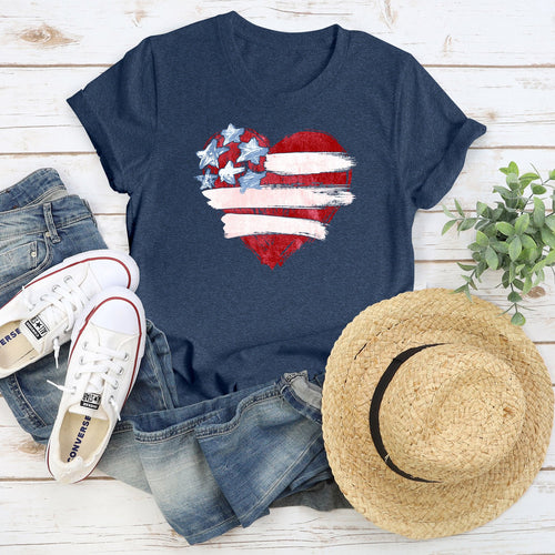 American Paintbrush Heart Tee