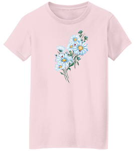 Glittering Daisy Bunch Short Sleeve T-Shirt