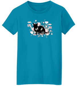 Kitty in Flowers Short Sleeve T-Shirt