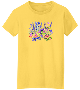 Watercolor Garden Short Sleeve T-Shirt