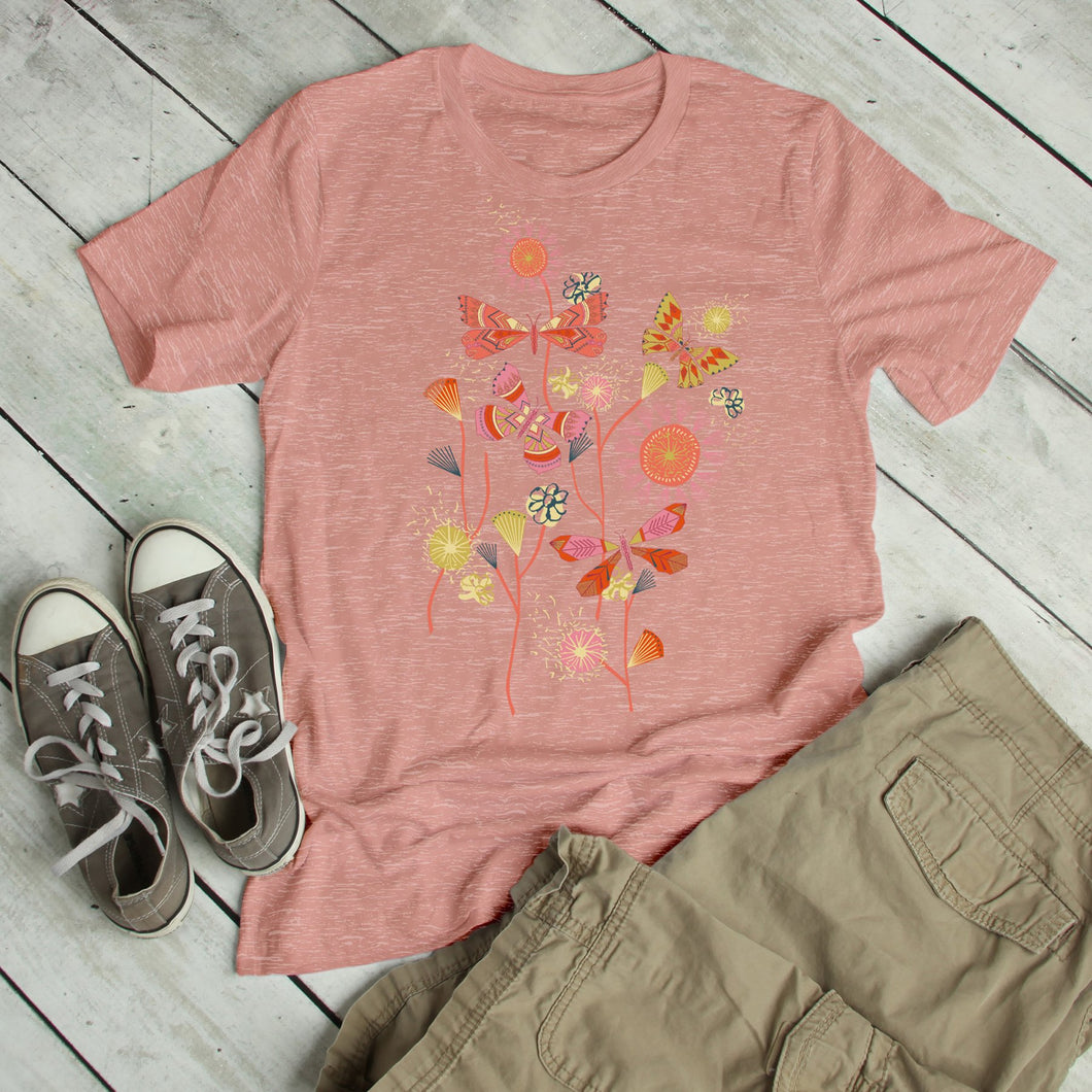 Boho Butterflies Junior Slub T-Shirt