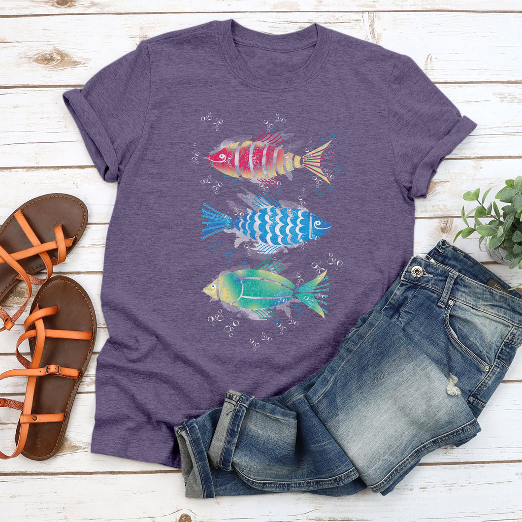 Fish Trio Junior Slub T-Shirt