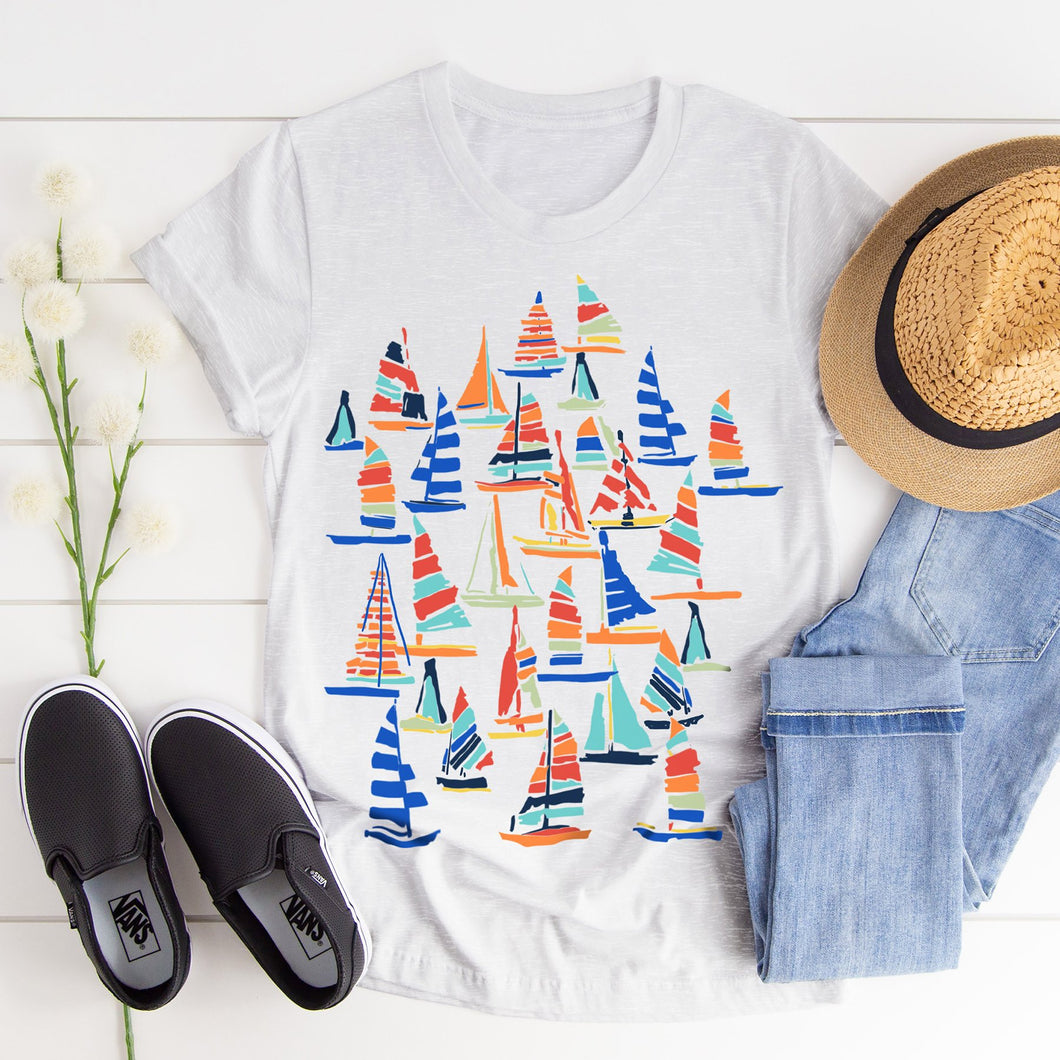 Sail Away Junior Slub T-Shirt