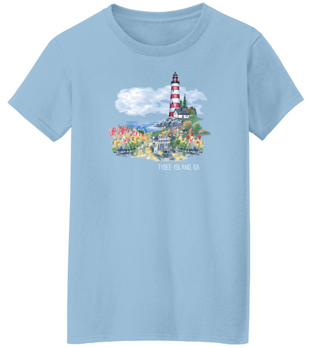 Garden Lighthouse Short Sleeve T-Shirt
