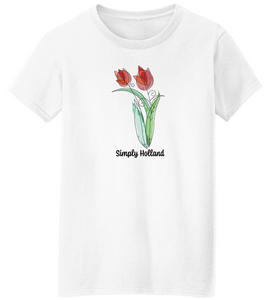 Simply Holland Tulips Short Sleeve T-Shirt