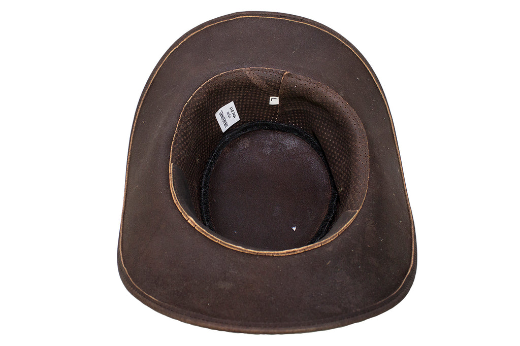 b47f850ba95 Genuine Brown Leather Gambler Hat – The Leather Lily Boutique