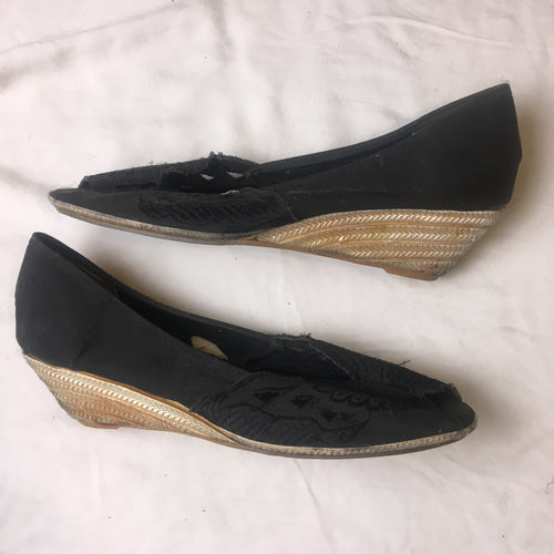 Vintage Chow Mein Shoes - Black