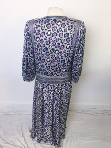 Vintage Diane Freis Dress - Leopard