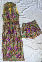 Load image into Gallery viewer, Vintage Dress With Shorts 2 Piece - Purple/ Gold
