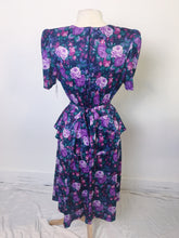 Load image into Gallery viewer, Vintage Tabby Dolly Dress Floral - Pink/Blue