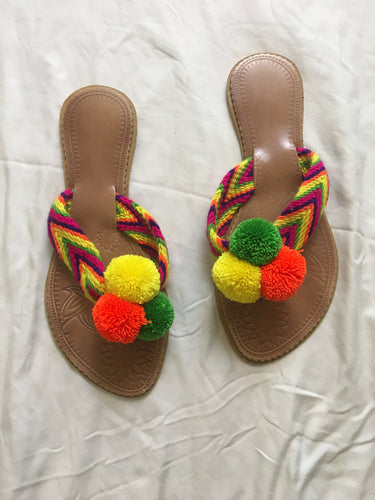 Sandals Pom Pom - MultiColor