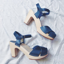Load image into Gallery viewer, Swedish Hasbeens Merci Sandal - Dark Blue
