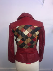 Vintage Fashion Ave. Jacket Leather Patchwork