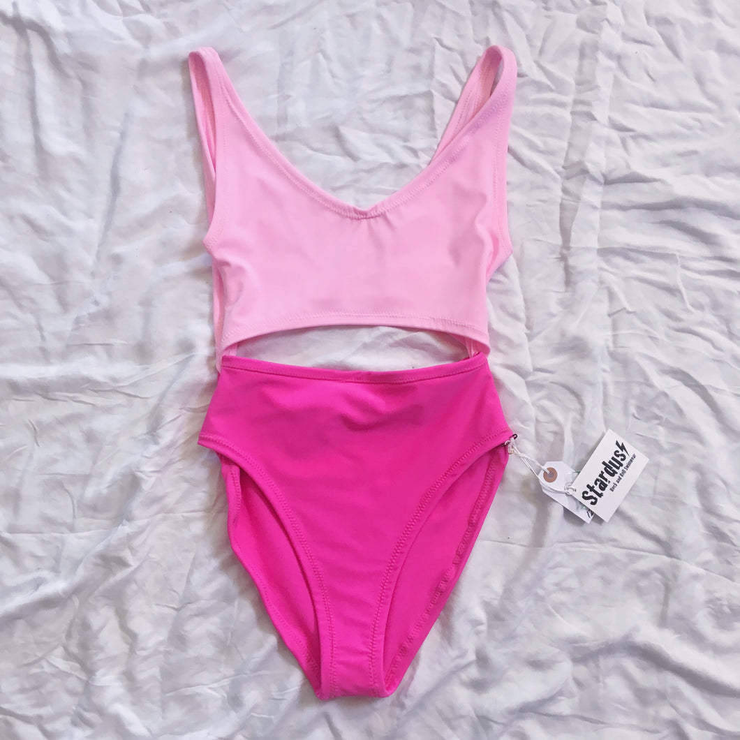 Stardust Swimsuit Two Tone  - Pink