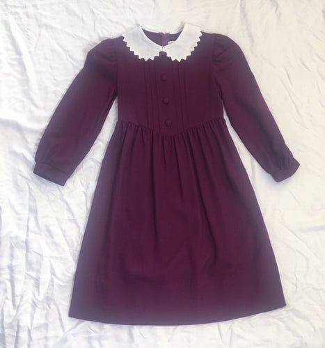 Vintage Dress - Maroon