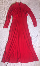 Load image into Gallery viewer, Vintage Dress 2 Piece - Red