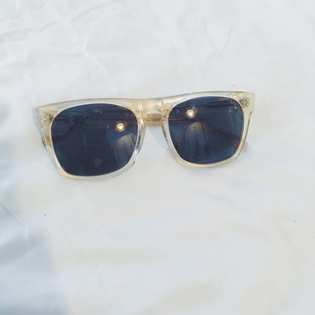 Vintage Sunglasses - Clear Gold