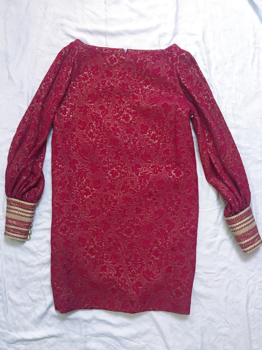 Vintage Carolyne Roehm Dress - Red/Gold