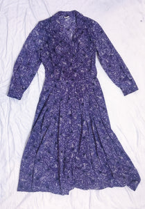 Vintage Shellton Stroller Dress Paisley