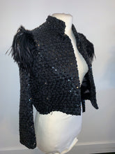 Load image into Gallery viewer, Vintage Jacket Sequin Feather