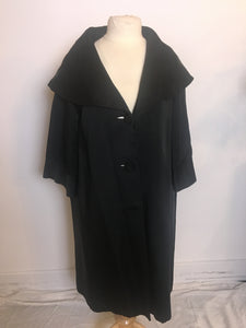 Vintage Miss Elliette Trench Coat - Black