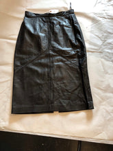 Load image into Gallery viewer, Deja Vou Designs Leather pencil skirt