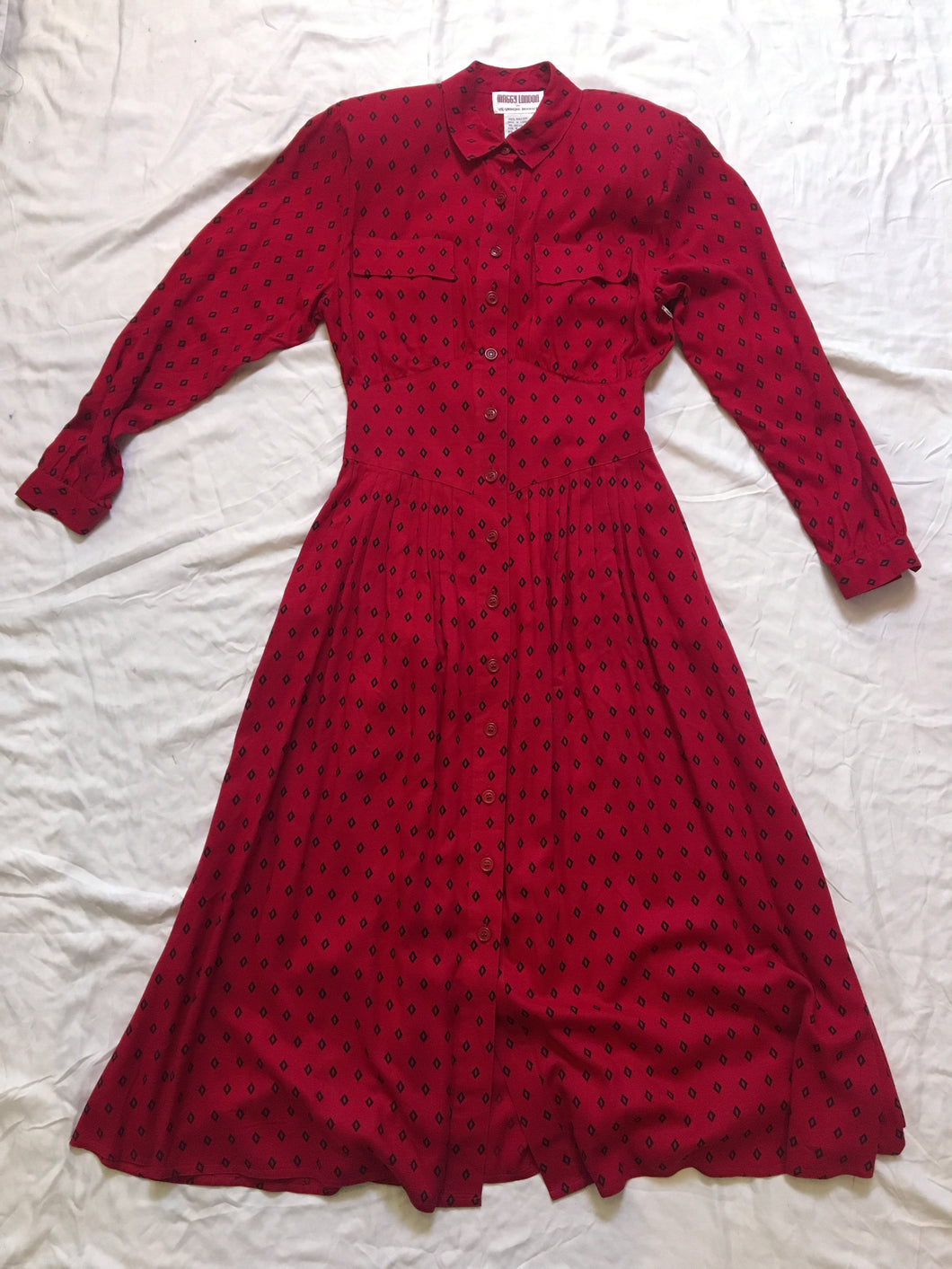 Vintage Maggy London Dress - Red