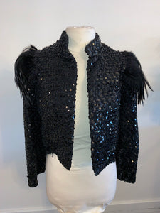 Vintage Jacket Sequin Feather