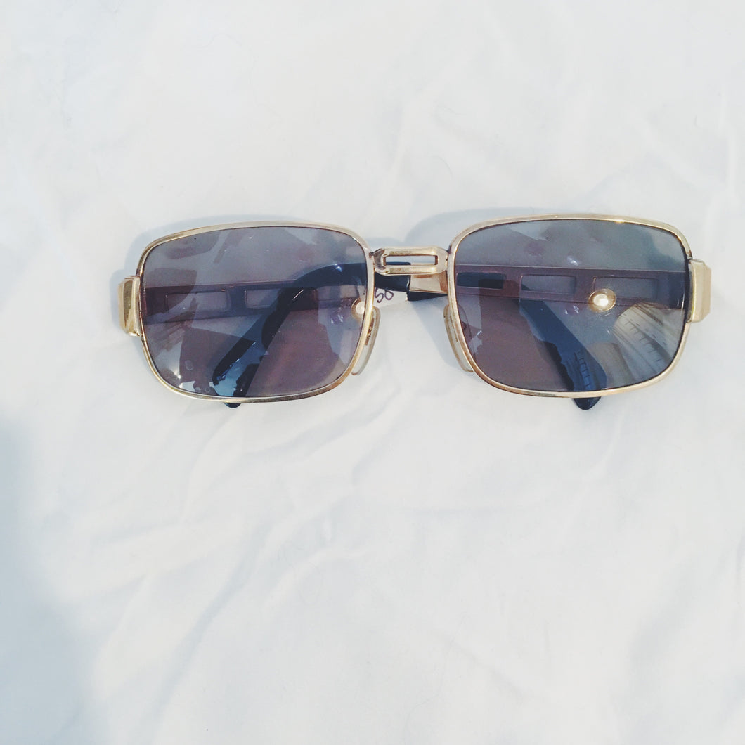 Vintage Sunglasses Gold Frame