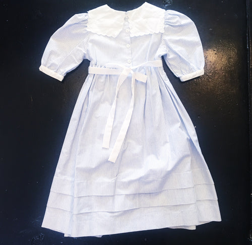 Vintage Dress - Light Blue/White